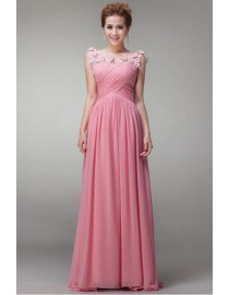 Three styles Pink chiffon bridesmaid dress  BMD-108