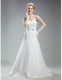 Awesome elongated bodice wedding dresses beaded  5W-258