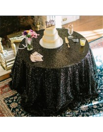 55*55 Inches Black gold sequins tablecloth table covers runners wedding decoration