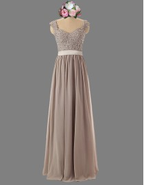 Gorgeous sweetheart cap sleeves dusty plum color sparkly sequins prom bridesmaid dresses illusion back SB-040