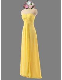 Awesome yellow sweetheart chiffon bridesmaid dresses SB-111
