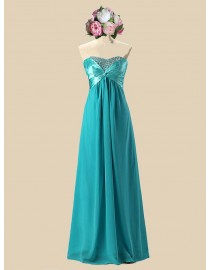 Awesome sweetheart darker turquoise chiffon bridesmaid dresses sequins beaded SB-103