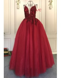 2019 best seller red luxurious beaded spaghetti sexy v neck prom engagement dresses