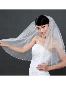 Beads embellishment bridal wedding finger veil WV-033