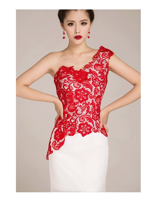 Red And White Dress - Dress Xy